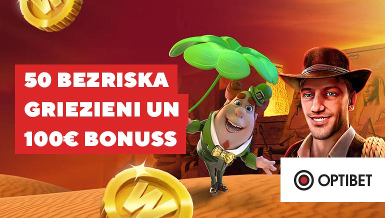 Optibet Casino Latvia Viesmīlības Bonuss Piedāvā 50 Bezmaksas Spēles