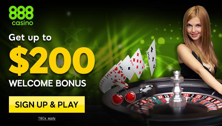 Spēlētāji dievinās 888 Casino lieliskās tiešsaistes kazino spēles un uzņemšanas bonusu
