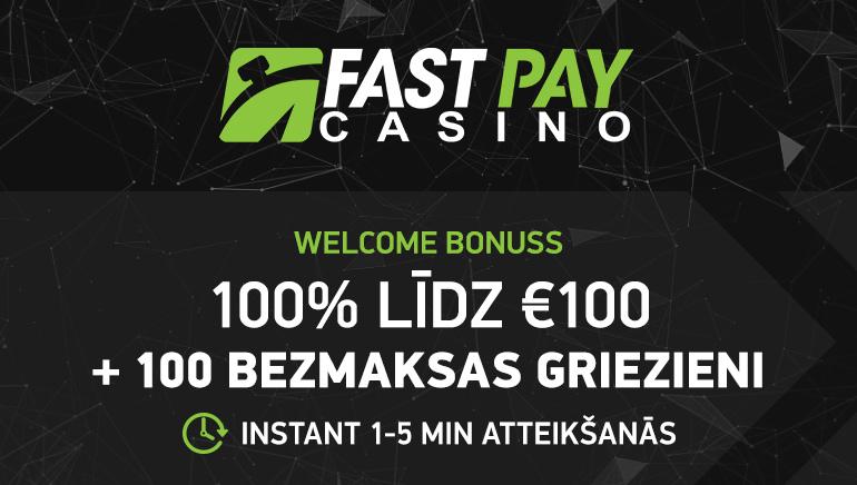 €100 Bonuss & 100 Bezmaksas Griezieni FastPay Casino Jaunajiem Spēlētājiem