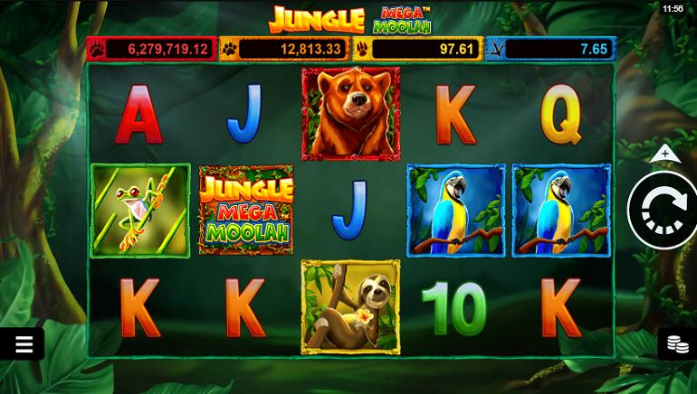 Spēļu Automāta Apskats: Jungle Mega Moolah no Microgaming