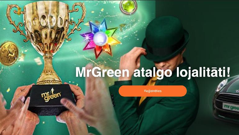 Mr. Green Palaiž Big Bucks Balvas