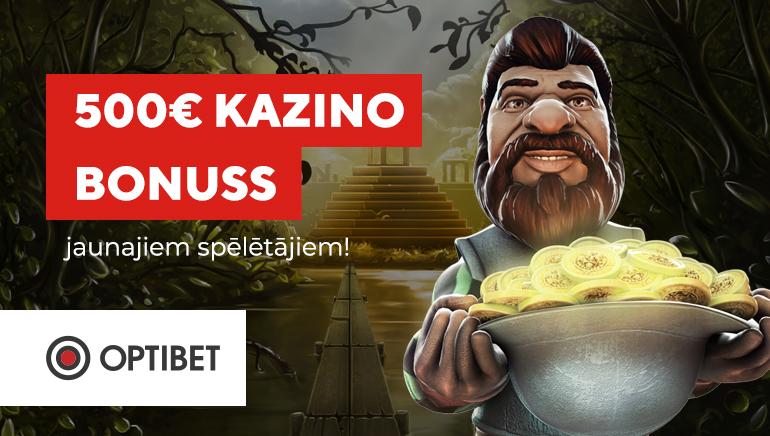Šomēness līdz pat €500 atmaksu trakums Optibet kazino