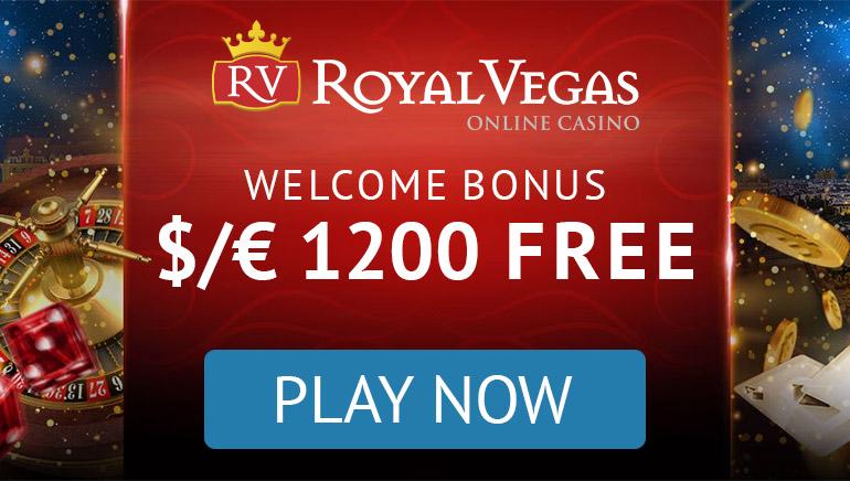 Royal Vegas - BONUSA PAKETE €1200