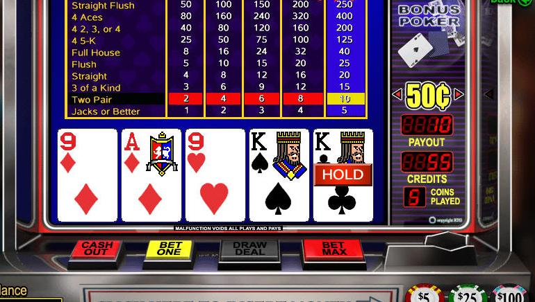 Bezmaksas tiešsaistes video pokers
